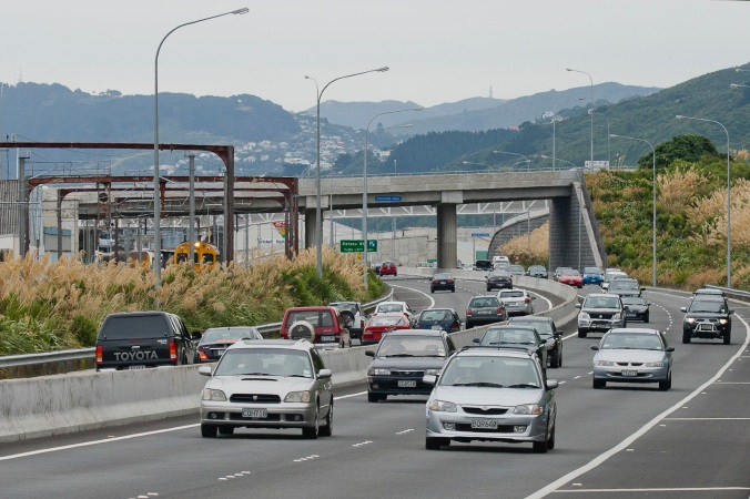 View South on SH2 at Rush hour