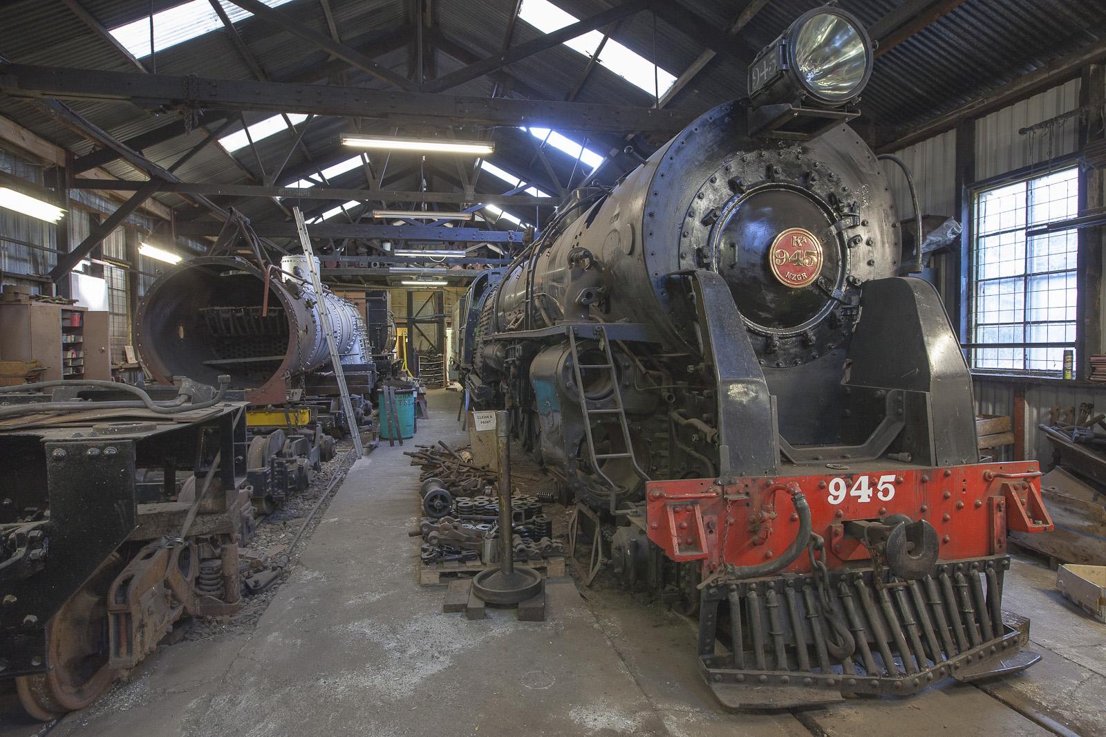 Restoration of steam locomotives at Paekakariki