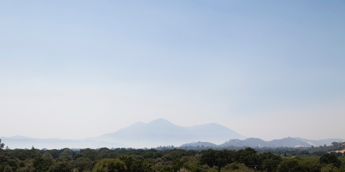 Smoke haze near Middletown, CA