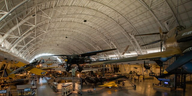 General view of the South wing of the Boeing Aviation Hangar