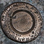 US Geological Survey Bench Mark on the summit of Mt Evans (photo by Mary)