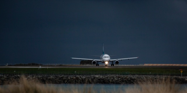 Airbus turning on to the runway