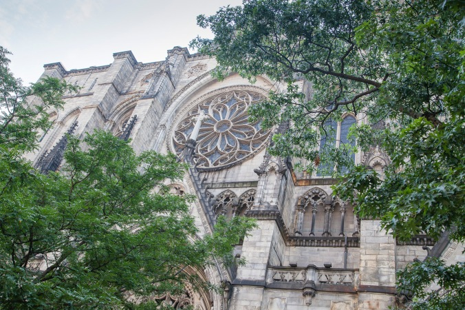 St John the Divine peers through the trees