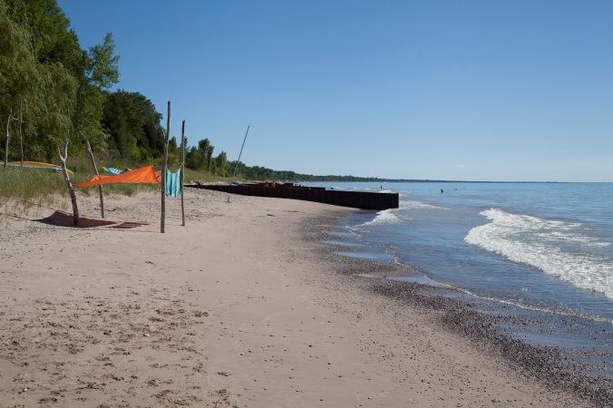warm deserted fresh water beaches