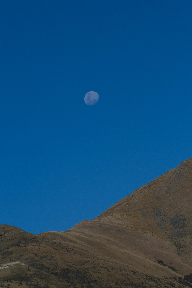 Moon over the Remarkables