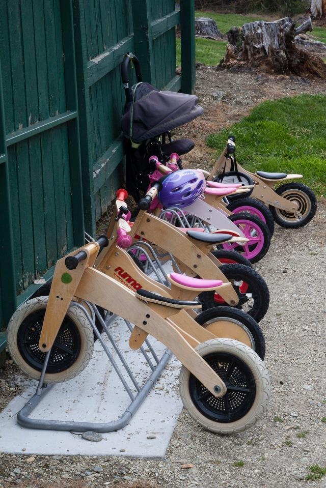 Kindergarten bike rack