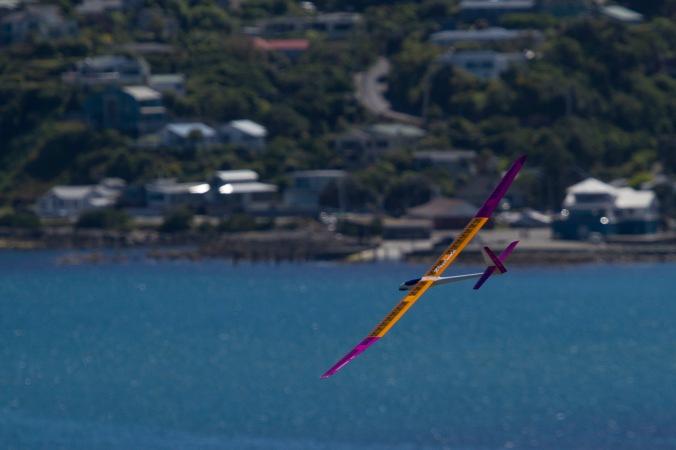 Model glider near Plimmerton