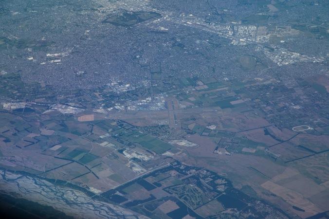Christchurch airport from 37,000 feet