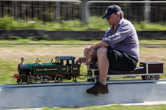 A little freelance 0-6-0 tank locomotive at speed