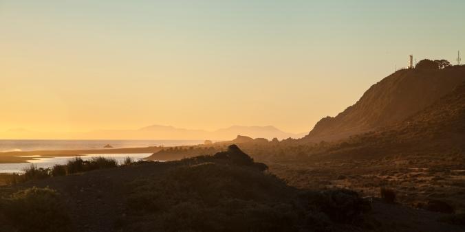 Across the Cook Strait towards the Kaikoura Ranges