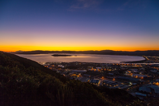 Wellington city and harbour from Wainuiomata Lookout