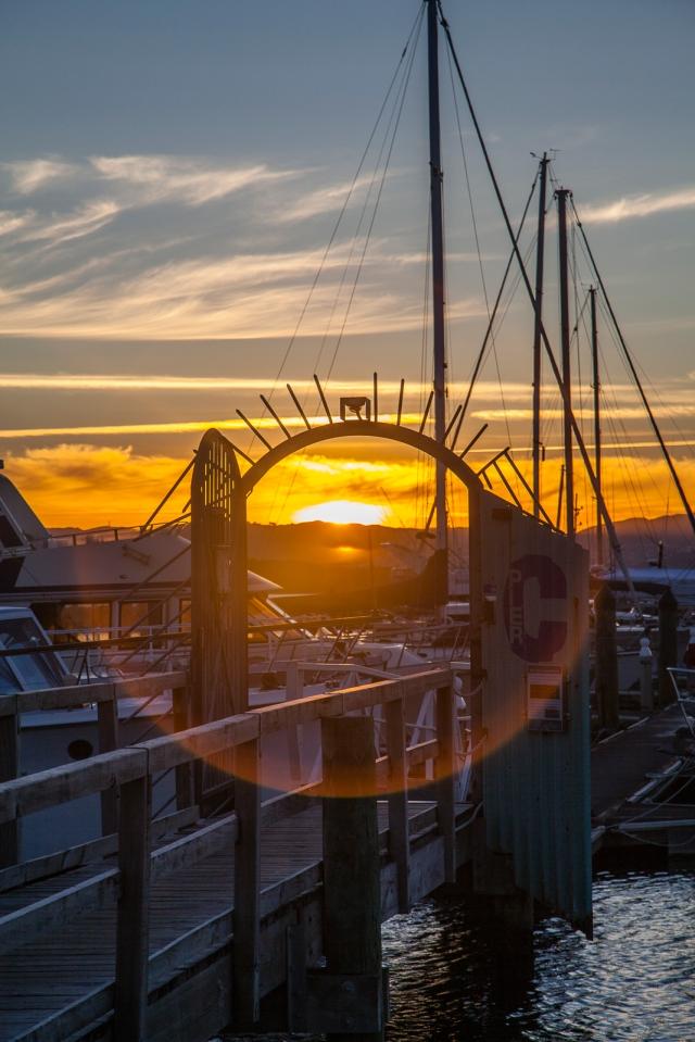 Sunset through the gate