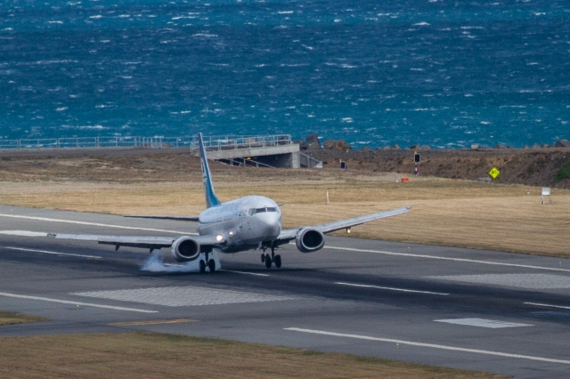 Air New Zealand B737 arrives
