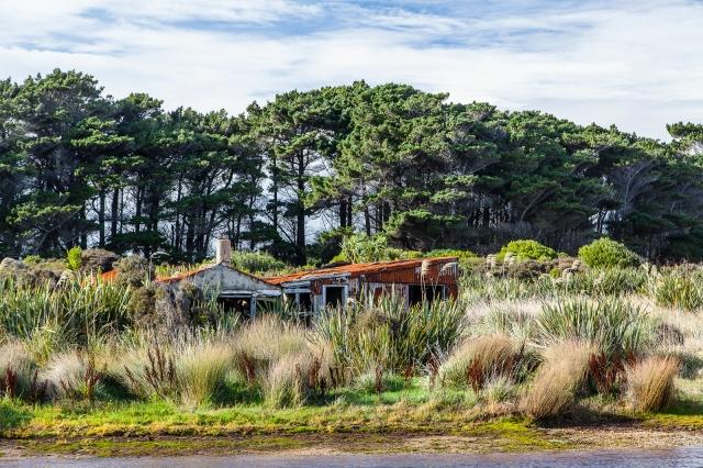 Deserted house at Waituna