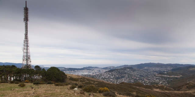 View from the Trig past the Mt Kaukau transmission mast