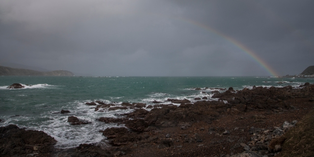 Rainbow and heavy weather