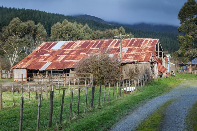 Farm shed near Mangaroa