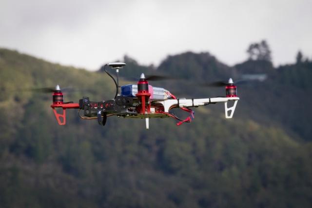 Quadcopter landing autonomously