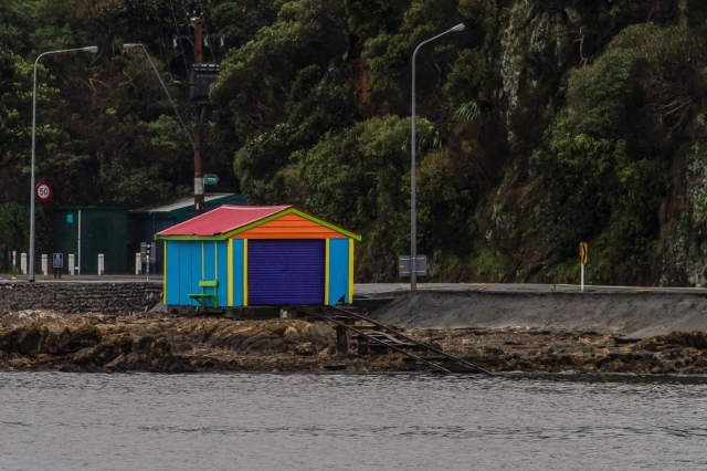 Colourful boatshed