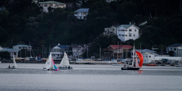 Evans bay, looking from Shelly Bay towards Hataitai