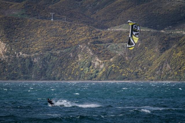 Kite surfer near Seatoun