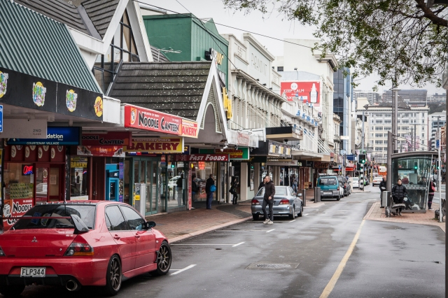 Courtenay Place, looking West