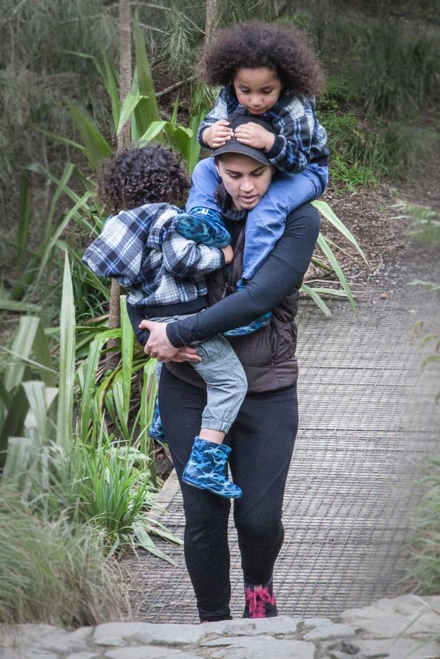 Mum carrying her babies