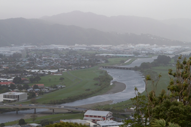 A bleak view of the Hutt Valley looking Southward