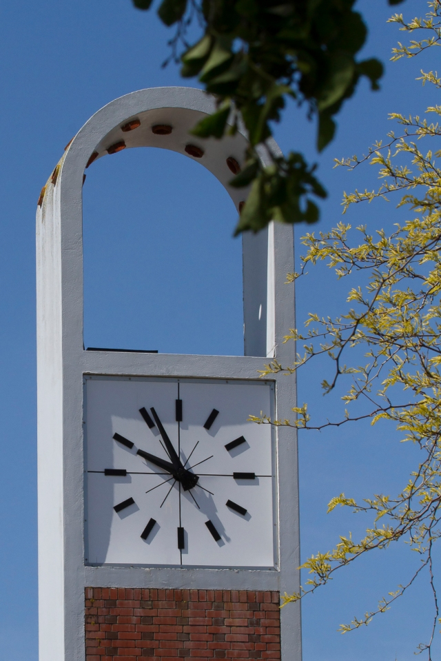 The town clock in the Naenae shopping centre