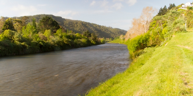 The Hutt River at Taita Gorge