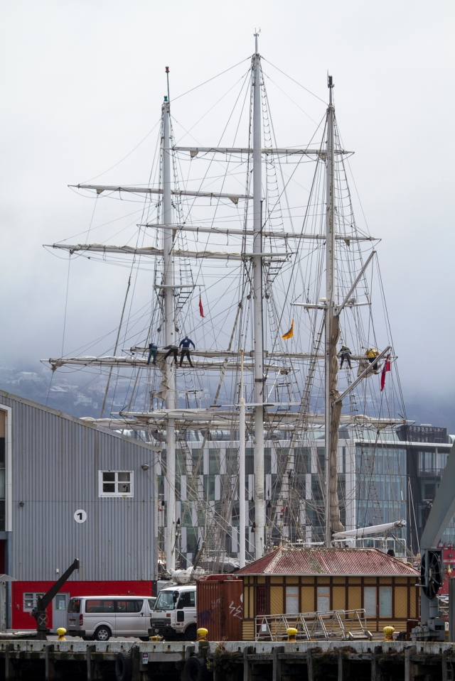 The masts and rigging of Lord Nelson
