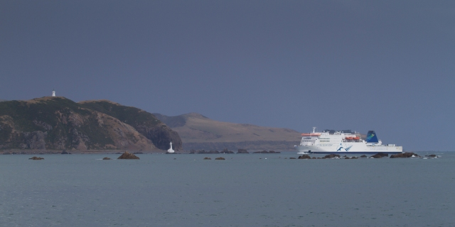 Kaitaki entering the harbour