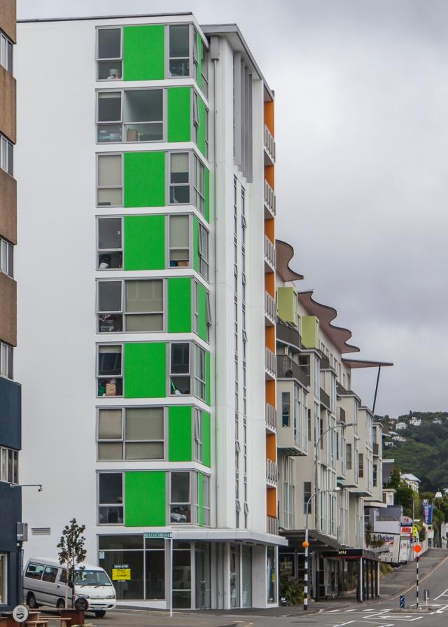 Newer buildings on Webb Street