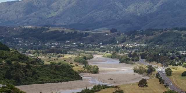 The Hutt River in the upper valley