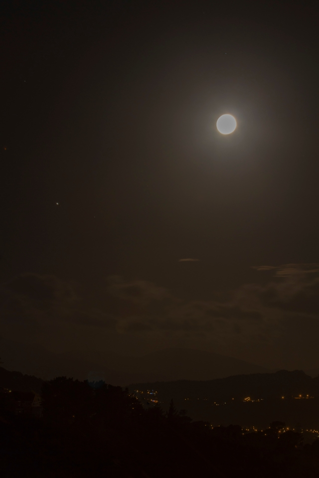 The moon, and perhaps Jupiter