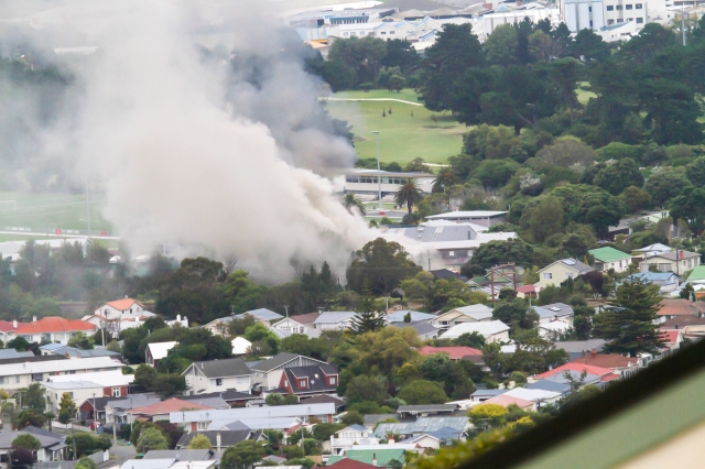 Smoke from Hutt Memorial College