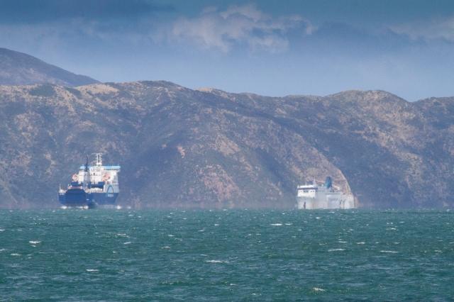 Ferries cross over