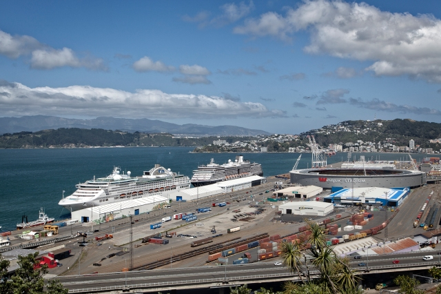 Cruise liners in port