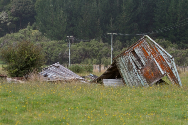 Collapsed shed