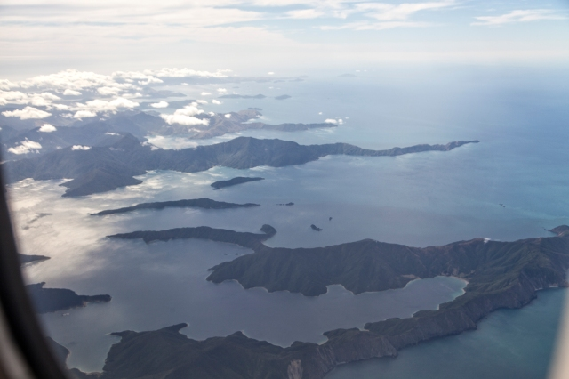 The outer edges of the Marlborough Sounds