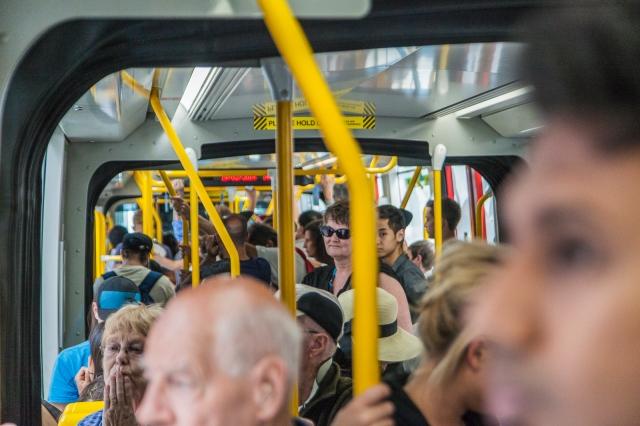 """Melbourne """"off-peak"""" tram"""