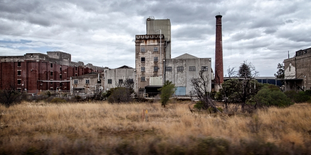 Disused factory buildings near Geelong
