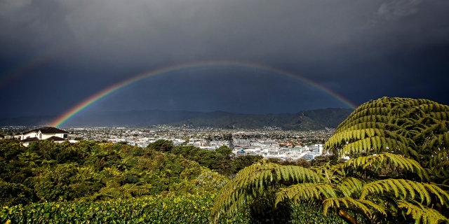 Rainbow over the Hutt Valley