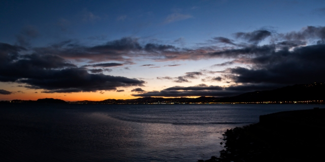 Sunset seen from Petone