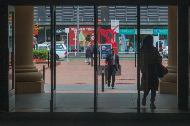 The front door of Wellington railway station