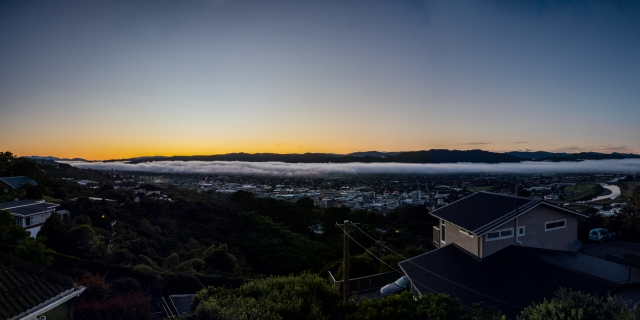 Early morning view up the Hutt Valley